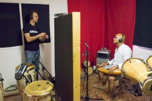 """Inor Sotolongo et Joel Hierrezuelo """"grabacion project Dizzy el Afrocubano"""